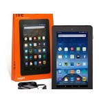 Kindle Fire Tablet 7 inch with Google Play Store & VoiceView 16GB with free OTG cable Black Friday